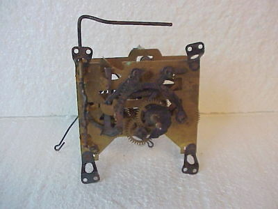 Vintage 1 Day Forestville Clock Company Cuckoo Clock Movement parts repair A