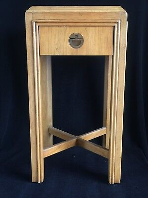 """Drexel Campaign End Table from Robb & Stucky ~ Vintage ~ 24 1/2"""" x 13"""" x 13"""" MCM"""