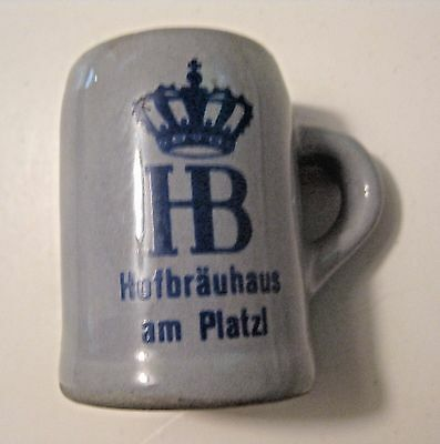 Vintage Hofbrauhaus Am Platzl German Beer Advertising Mug Toothpick Holder