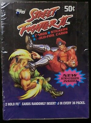1993 Topps Capcom Street Fighter Ii Trading Card 36 Pack Box Sealed