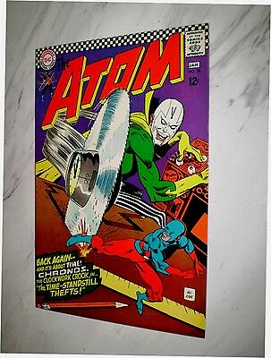 Atom #28 NM+ 9.6 Cr/OW pages Unrestored 1967 DC Silver age Chronos