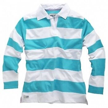 GILL Elements Womens Rugby Shirt (Fashion) E009 Gr. 12 White/New Blue