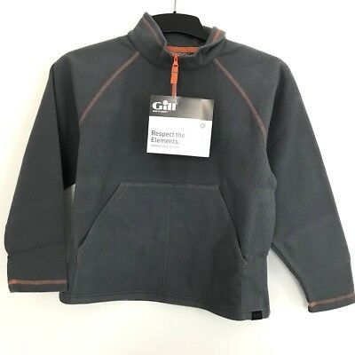 Gill Junior Grid Mikrofleece Zip Neck Gr. JS Steel/Grau