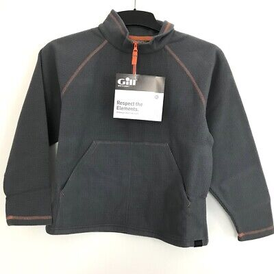 Gill Junior Grid Mikrofleece Zip Neck Gr. JM Steel/Grau