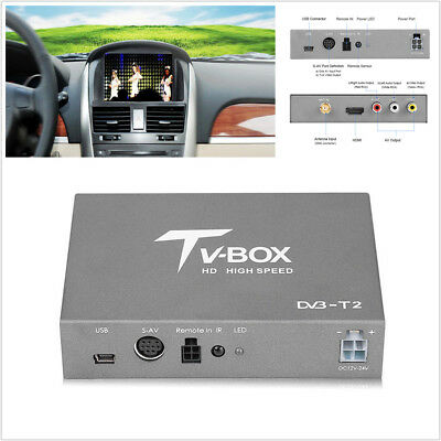 Car DVB-T2 Digital TV Box Receiver Analog Tuner EN300 744/DVB-T2 EN 302 Standard