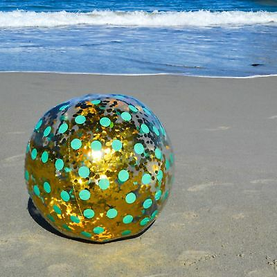 Inflatable Blow Up Giant Glitter Beach Ball Large Jumbo