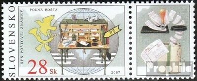 Slovakia 571Zf with zierfeld (complete.issue.) unmounted mint / never hinged 200