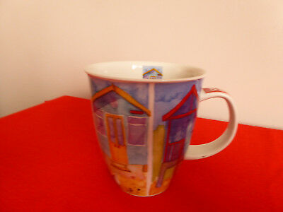 "Dunoon Fine Stoneware ~ "" By The Coast "" Large Mug ~By Emma Ball ~ 4 1/4"" High"