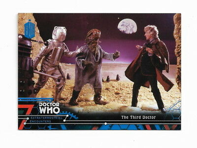 2016 Topps Doctor Who Extraterrestrial Base Card 3 Blue  96/99