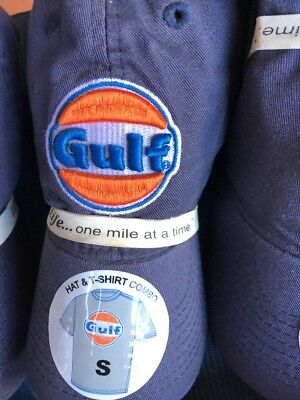 GULF Gas Station Limited Edition Promo Six T-SHIRT &HAT Embroidered Patch On Hat