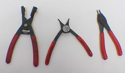 Snap-n 3pc Pliers Set: SBP2 Spark Plug Wire Boot,PRH 129 Fixed Tip Ring,SRPC3000