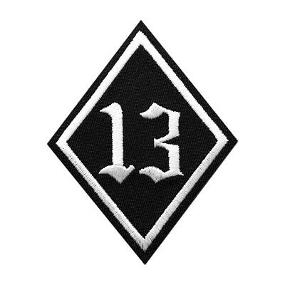 Lucky 13 Embroidered Iron on Sew on PATCH