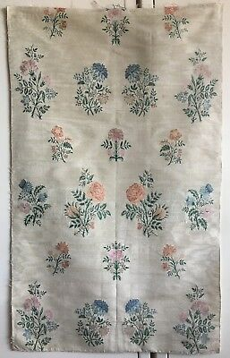 Beautiful Late 18th C. or Early 19th C. French Silk Floral Brocade Fabric (2393)
