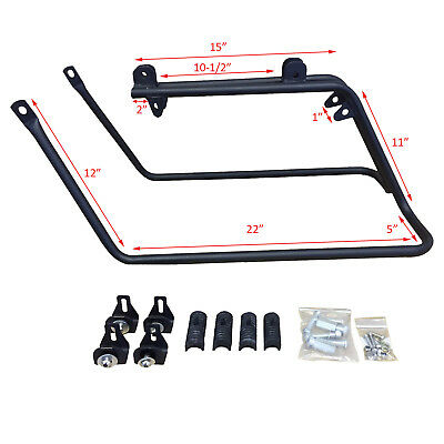 USED Conversion Brackets - Mount Harley FLH Saddlebags onto a 2008+ Harley Dyna