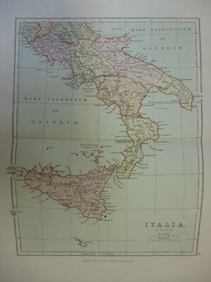 Map of Italia (South). (Nr. 42) from Philips' Comprehensive Atlas 1852. Philip,