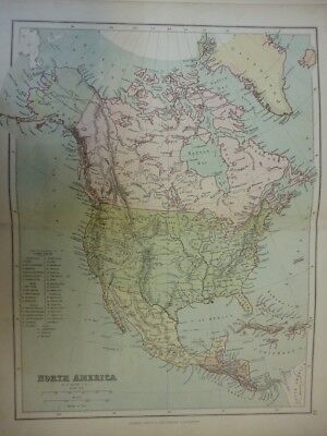 Map of North America. (Nr. 30) from Philips' Comprehensive Atlas 1852. By W. Hug