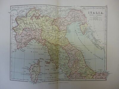 Map of Italia (North and Central). (Nr. 41) from Philips' Comprehensive Atlas 18