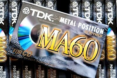 Tdk Ma 60 Metal Position Type Iv Blank Audio Cassette - 1997