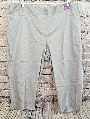 64c60f808c7 Lane Bryant Womens Plus Capri Pants Trouser Size 28 Gray Sateen Stretch  (t-e)