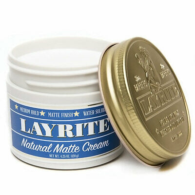 Layrite Natural Matte Cream Pomade 120g Hair Wax Medium Hold **GENUINE**