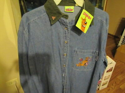 Scooby doo(Scooby-Doo Flower Power) Denim Long sleeve size S cute NWT Licensed