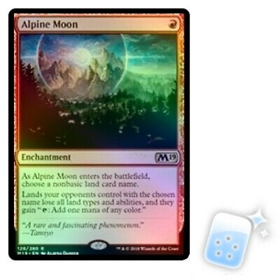 FOIL ALPINE MOON Core Set 2019 M19 Magic MTG MINT CARD