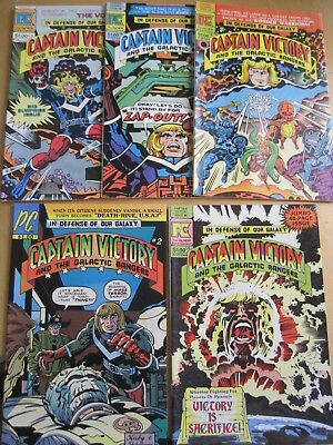 CAPTAIN VICTORY : issues 2, 6, 7, 8, 10 of the 1981 Pacific series by JACK KIRBY
