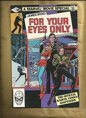 James Bond for your eyes only #1 vfn 1981 Marvel Comics US comics