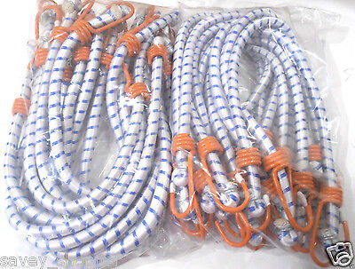 "(24) 24"" Inch (2 Ft.) Heavy Duty Orange Hook Bungee Cord Tie Down Strap 24 Pc."
