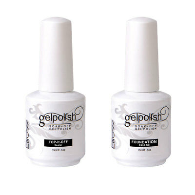 Elite99 UV LED Gel Polish Nail Art Top Base Coat Primer Foundation Soak Off 15ml