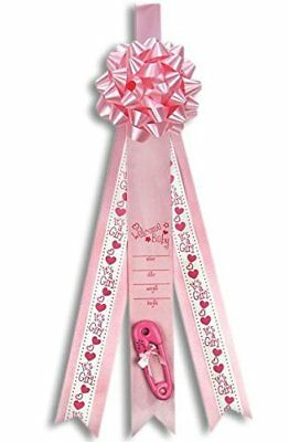 Welcome Baby Girl Birth Announcement Ribbon Large Pink Decorative Banner Gift