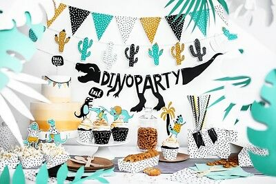 Dino Party Dinosaur Birthday Party Tableware Banner Decorations Cactus Jurassic