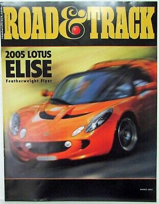 2005 Lotus Elise Featherweight Flyer Road & Track Article Reprint Aug 2004 Issue