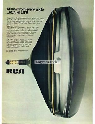 1969 RCA Hi-Lite Color TV Picture Tube OEM Replacement Vtg Print Ad