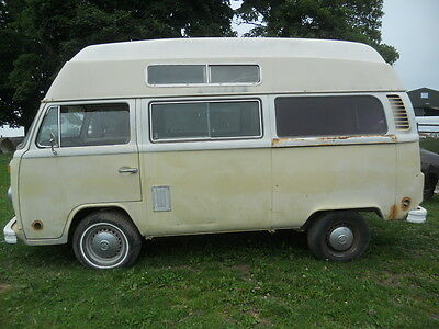 1973 VW bay window High top LHD for Restoration Rust free Auto.
