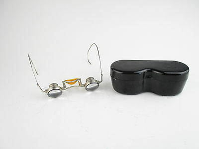 Carl Zeiss Jena Lupenbrille magnifying spectacles in case defekt spare parts