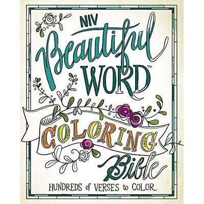 Beautiful Word Coloring Bible-NIV: Hundreds of Verses t - Hardcover NEW Zonderva