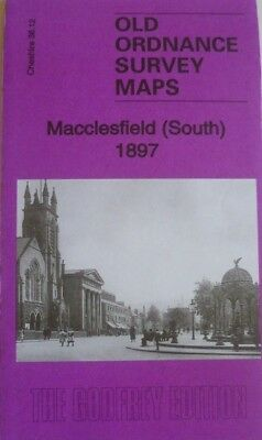 OLD Ordnance Survey Detailed Maps Macclesfield South Cheshire 1897 Godfrey Edit
