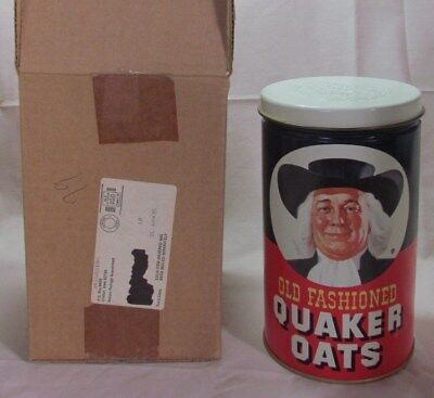 Vintage Quaker's Old Fashion Oats Tin, Promo Mail-In, Brand New Original Box