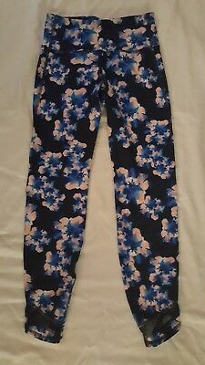 7e3ab3e3986d87 Old Navy Active High-Rise 7/8 Length Floral Compression Leggings M tall #