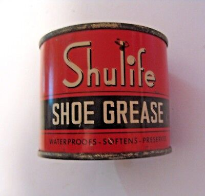 Vintage Shulife Sears Roebuck Shoe Grease Advertising Can ~ See All Our Cans