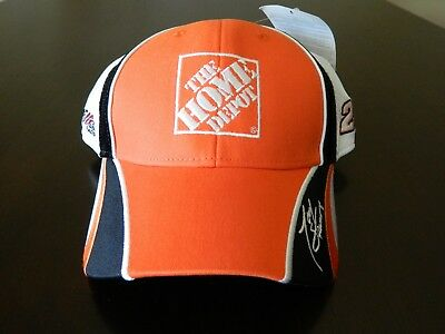 LOT OF 4 Nascar Tony Stewart 20 Hat Cap New Home Depot Black ... 6189b61841e2