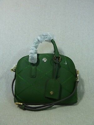 NWT Tory Burch Bottle Green Mini Robinson Stitched Dome Cross Body Bag  - $425