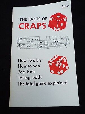 THE FACTS OF CRAPS by Walter I. Nolan Casino Gambling Dice Strategy Guide
