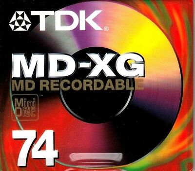 Tdk Md-Xg 74 Md Recordable Blank Minidisc - Sealed