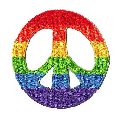 Patch écusson patche Peace and Love symbole thermo thermocollant brodé badge