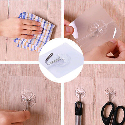 Removable Bathroom & Kitchen Wall Strong Suction Cup Hook Hangers Vacuum Sucker