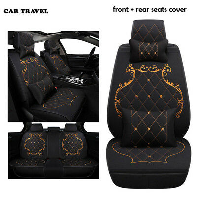 Elegant Luxury Linen England Lace Style Car Seat Cover Protector Cushion Durable