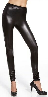 glänzende Leggings in Wetlook * Gr. S - L * sexy Leggins Damenhose Hose Damen