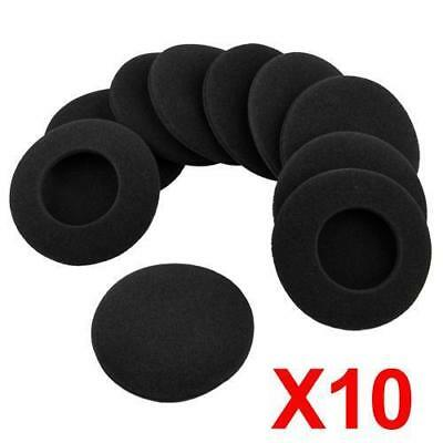 10Pcs Black Soft 16mm Replacement Ear Pad Bud Foam Earbud Cover For Earphones